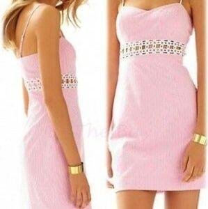 Lily Pulitzer Stripped Pink Dress Size 0